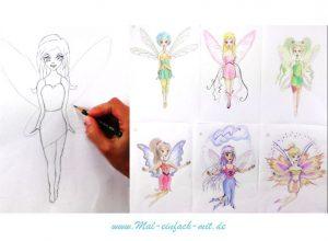 Fee zeichnen für kinder