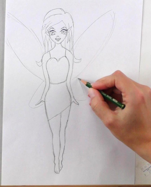 Fee Zeichnen Lernen Mit Bleistift Schritt Für Schritt Video