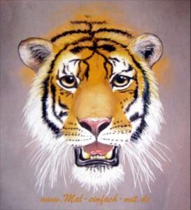 Tiger zeichnen lernen Tier zeichnen