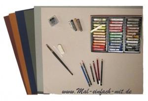 Zeichnen Material Pastellkreide